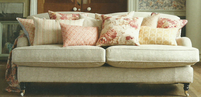 Upholstery and Loose Cover on the Scottish Islands & Highlands: Sofa Example