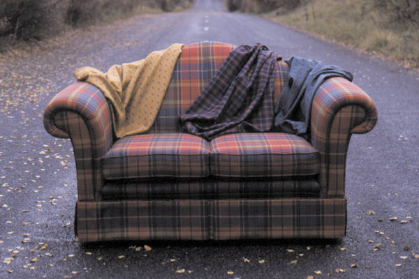 Uphostered Tartan Couch